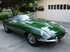 1963 Jaguar XKE...Love, love. But I like mine better, 1995, so sedate and classy..........................