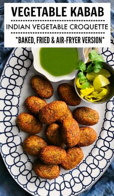 Vegetable Kabab - Indian Vegetable Kebab (Glutenfree + Vegan) #kabab #kebab Indian Vegetable Croquette #croquette #lentils #airfryer #indiansnacks #gameday #vegansnacks Indian Beef Recipes, Goan Recipes, Kebab Recipes, Veggie Recipes, Appetizer Recipes, Healthy Recipes, Soup Appetizers, Veggie Food, Easter Recipes