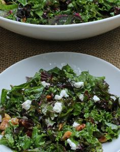 With just a few ingredients & a trick for turning raw kale into a delicious vegetable, you can make this incredible Middle Eastern Kale Salad.