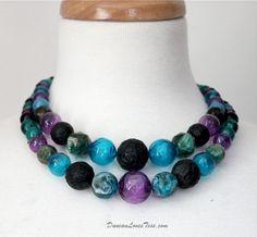 Vintage 60s Necklace / Double Strand Plastic by DuncanLovesTess, $25.00