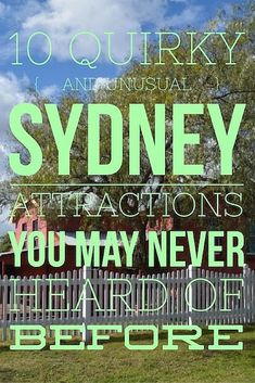 Attractions and sights in Sydney that are off-the-beaten path and not in any guide book. Unusual ideas of things to do for visitors and tourists alike. Australia Cairns, Visit Australia, Sydney Australia, Western Australia, Australia Trip, Victoria Australia, Brisbane, Melbourne, Attraction