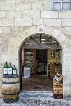 Fine art photography of a wine shop in St Emilion By Georgia Fowler