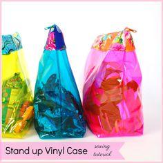 Vinyl Zipper case variation tutorial, making boxed corners.