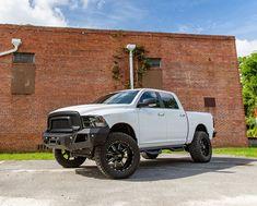 Dodge Ram with XD Mammoths from KMCwheels & Go Rhino Bumper Ram Trucks, Dodge Trucks, Pickup Trucks, Murdered Out, Dodge Vehicles, Dodge Dakota, 4x4 Off Road, Wheels And Tires, Amazing Cars