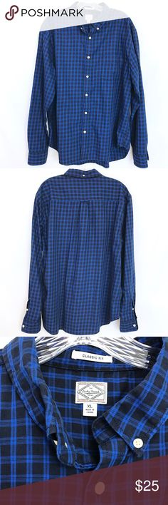 """Lucky Brand Classic Fit Button Down Shirt In good condition. 26"""" Sleeve from Shoulder hem to wrist. Classic Fit. Lucky Brand Shirts Casual Button Down Shirts"""