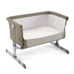 Chicco Next2Me Side-Sleeping Crib (Dove Grey) With Free Organic Fitted Sheet - £149