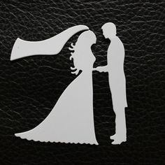 Bride and groom die cut