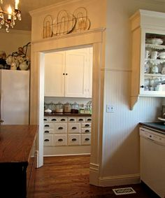 Homestead Revival: Inspiration Friday: The Pantry!  -  A butler's pantry like this would be nice to have.