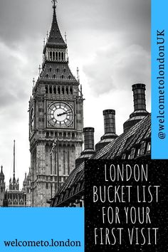 Make planning your first trip to London easy with our list of top ten ideas for the best things to do and best places to visit. London Attractions, London Landmarks, Tower Of London, London City, Beautiful Places To Visit, Cool Places To Visit, London Activities, London Market, Millennium Bridge