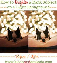 Correct link! Brighten dark subject christmas