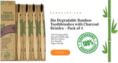 Eco-Friendly Recyclable Vegan Toothbrush 100% Biodegradable Recycled Packaging.