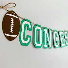Football party decorations designed by Declan & Smith Party Decorations. #football #superbowl Baseball First Birthday, Football Birthday, First Birthday Photos, Boy Birthday Parties, Sports Birthday, Football Centerpieces, Baseball Party Decorations, Birthday Photo Banner, Happy Birthday Banners