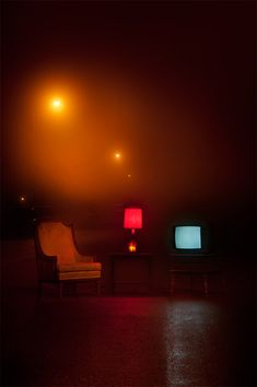Marcos Calamato - These eerie furniture photographs are the works of photographer and graphic designer Marcos Calamato. The photo series consists of a chair, a telev. Cinematic Photography, Night Photography, Street Photography, Art Photography, Night Aesthetic, Red Aesthetic, Breathing Fire, The Wicked The Divine, Stage Design