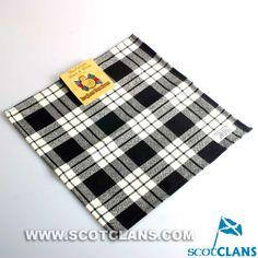 MacFarlane Black and White Tartan Handkerchief