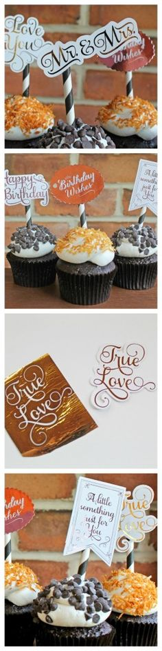Learn how to make foil and glitter cupcake toppers at home!
