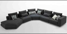 Charcoal Grey Sectional Sofa With Chaise Lounge