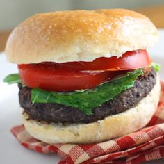 Easy Black Bean Burger.