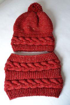 Hair Braided Child Beanie-Neck Collar Set - Different and Beautiful Ideas Crochet Gloves, Crochet Scarves, Knitted Hats, Knit Crochet, Crochet Stitches, Baby Girl Patterns, Crochet Dishcloths, Single Crochet Stitch, Double Crochet Decrease