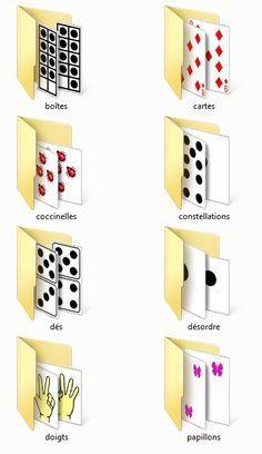 Plusieurs représentations des chiffres de 1 à 9 à intégrer à vos exercices.