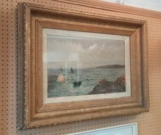 19th Century Oil Painting. Framed size is approximately 28 inches x 22 inches.