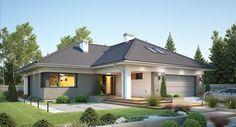 DOM.PL™ - Projekt domu FA Nela VI CE - DOM GC7-26 - gotowy koszt budowy House Blueprints, Design Case, House Plans, Mansions, Architecture, House Styles, Outdoor Decor, Home Decor, Templates