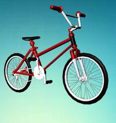 City Bicycle Red 3d Model Max C4d Obj 3ds Fbx Lwo Stl