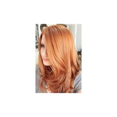 Strawberry Blonde Long Hair ❤ liked on Polyvore featuring beauty products, haircare and hair styling tools