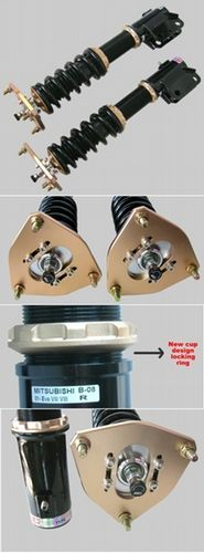 BC Racing BR Coilovers 03+ Evo 8 + 9 + FREE Extenders