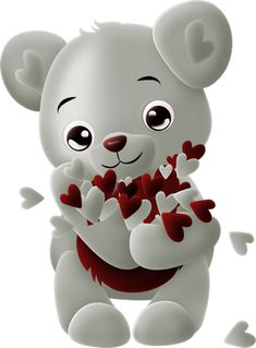 ♥ Tube ours, coeurs, amour ♥ Bear png, hearts, love ♥ Animated Polar Bear, Polar Bear Images, Teddy Bear Pictures, Beautiful Love Pictures, Love You Images, Easter Bunny Pictures, Happy Birthday Wishes Photos, Alien Drawings, Valentines Day Pictures
