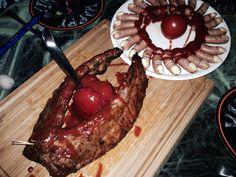 Halloween Bolognese, Steak, Beef, Halloween, Food, Meat, Meal, Eten, Steaks