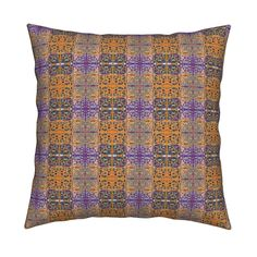 Catalan Throw Pillow featuring VARIATION 2 OCTOBER BOO Geometric by paysmage…