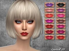 Lipstick 29 by Sintiklia at TSR • Sims 4 Updates