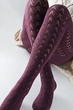 Jacquard knitted tights provide the right amount of peek-a-boo for everyday.   25 Of The Best Tights You Can Get On Amazon