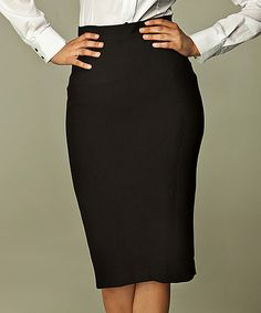 Look at this NIFE Black Classic Pencil Skirt on #zulily today!