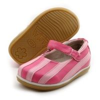 pink striped mary janes