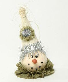 Look at this #zulilyfind! Snowman Head Ornament #zulilyfinds