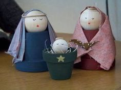 Flowerpot Nativity - @Michelle Kopf this could be cute craft for Christmas!