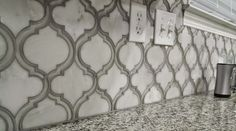 The Camilla Mosaic is an arabesque mosaic and is a beautiful as a backsplash. This one was done by a DIYer! #DIY
