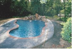 This #10/12 design was built with the insulated pool wall system up in the mountains.  The rock waterfall is one of my favorites )built by Johnny5 from IN).
