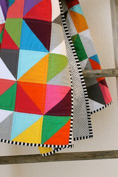 rainbow baby quilt. by CB Handmade on Flickr.