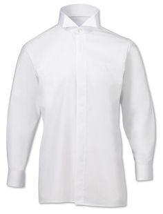 A wing collar dress shirt of tremendous value for money. An elegant formal dress shirt with a traditional wing collar.