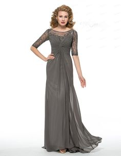 Groom Mother Dress Plus Sizes Long Elegant Half Sleeves Ruched Sheath Chiffon Beading Mother Of The Bride Dresses For Wedding Party Mother Dresses For Wedding Plus Size From Evening2489, $126.98| Dhgate.Com