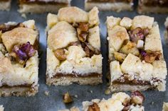 Chewy, salty, gooey, crunchy and nutty - all these things tick my boxes. The smell of walnuts in baking is fantastic, it takes me back to the simple walnut biscuits that were always in my Grandma's biscuit tin. Gourmet Recipes, Sweet Recipes, Baking Recipes, Cake Recipes, Salted Caramel Slice, Something Sweet, No Bake Desserts, No Bake Cake