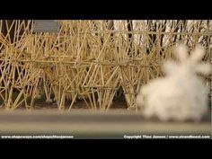 Strandbeest: Propeller-driven walking sculpture comes out of the 3D printer ready to move.  No electronics, just really astonishingly clever design.