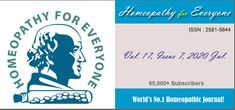 """""""Read the amazing Homeopathy for Everyone, Seventh issue of 2020. Rich collection of articles, cases, research, book reviews, veterinary and agrohomeopathy and much more!"""""""