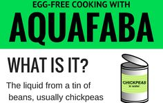 Aquafaba is certainly one of the most exciting developments in egg-free baking. But what is aquafaba and how can you use it? Read on for some great tips and tricks, a handy infographic and some inspiring recipes. A very brief history of Aquafaba In the first few months of 2015, something