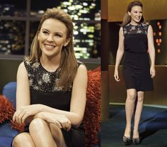 Kylie Minogue wears the dress MARGARET from the Azzaro FW12-13 collection, at The Jonathan Ross show in London #kylieminogue #azzaro