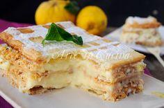 Millefoglie alla crema pasticcera al limone vickyart arte in cucina