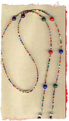 Gozluk such - Anja Beaded Jewelry, Handmade Jewelry, Beaded Necklace, Beaded Bracelets, Wire Jewelry, Cool Necklaces, Schmuck Design, Jewelry Crafts, Eyeglasses