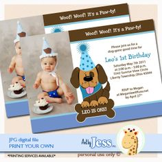 Photo Invitation for puppy party